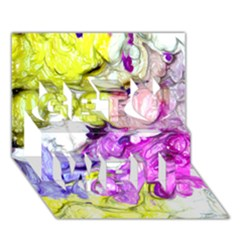 Strange Abstract 2 Soft Get Well 3D Greeting Card (7x5)
