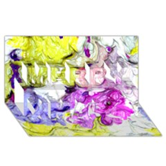Strange Abstract 2 Soft Merry Xmas 3D Greeting Card (8x4)