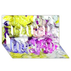 Strange Abstract 2 Soft Laugh Live Love 3D Greeting Card (8x4)
