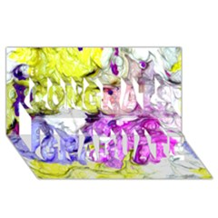 Strange Abstract 2 Soft Congrats Graduate 3d Greeting Card (8x4)