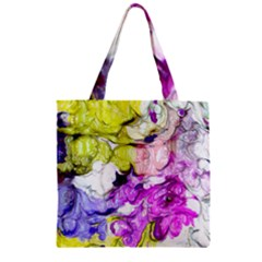 Strange Abstract 2 Soft Zipper Grocery Tote Bags