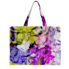 Strange Abstract 2 Soft Zipper Tiny Tote Bags
