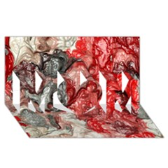 Strange Abstract 3 MOM 3D Greeting Card (8x4)