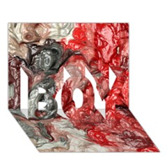 Strange Abstract 3 BOY 3D Greeting Card (7x5)