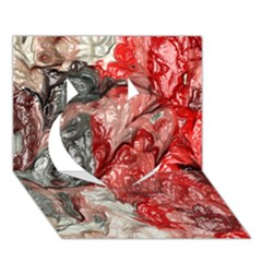 Strange Abstract 3 Heart 3D Greeting Card (7x5)