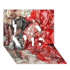 Strange Abstract 3 Love 3d Greeting Card (7x5)