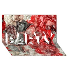 Strange Abstract 3 PARTY 3D Greeting Card (8x4)