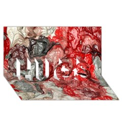 Strange Abstract 3 HUGS 3D Greeting Card (8x4)