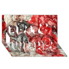 Strange Abstract 3 Best Wish 3d Greeting Card (8x4)