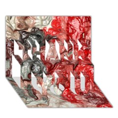 Strange Abstract 3 THANK YOU 3D Greeting Card (7x5)