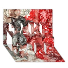 Strange Abstract 3 TAKE CARE 3D Greeting Card (7x5)