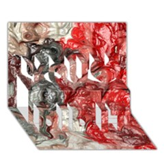 Strange Abstract 3 You Did It 3D Greeting Card (7x5)