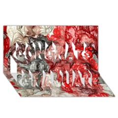 Strange Abstract 3 Congrats Graduate 3D Greeting Card (8x4)