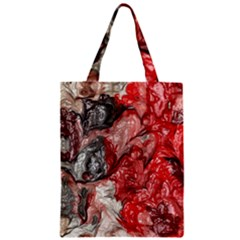Strange Abstract 3 Zipper Classic Tote Bags