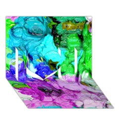 Strange Abstract 4 I Love You 3d Greeting Card (7x5)