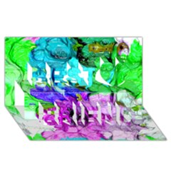Strange Abstract 4 Best Friends 3d Greeting Card (8x4)