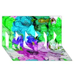 Strange Abstract 4 Mom 3d Greeting Card (8x4)