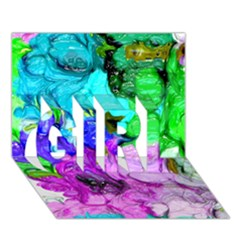 Strange Abstract 4 GIRL 3D Greeting Card (7x5)