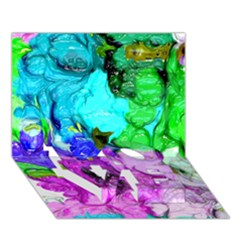 Strange Abstract 4 Love Bottom 3d Greeting Card (7x5)