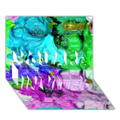 Strange Abstract 4 YOU ARE INVITED 3D Greeting Card (7x5)