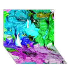 Strange Abstract 4 Apple 3D Greeting Card (7x5)