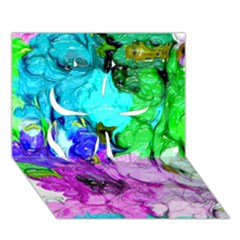 Strange Abstract 4 Clover 3D Greeting Card (7x5)