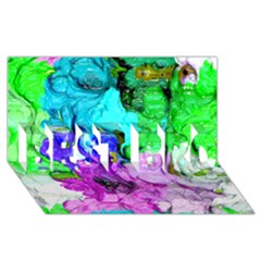 Strange Abstract 4 Best Bro 3d Greeting Card (8x4)
