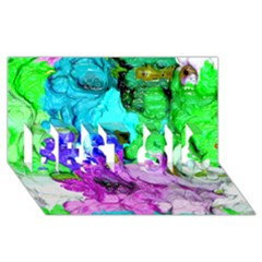Strange Abstract 4 BEST SIS 3D Greeting Card (8x4)
