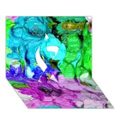 Strange Abstract 4 Ribbon 3D Greeting Card (7x5)