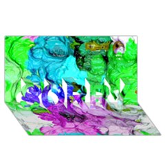 Strange Abstract 4 SORRY 3D Greeting Card (8x4)