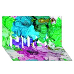 Strange Abstract 4 Hugs 3d Greeting Card (8x4)