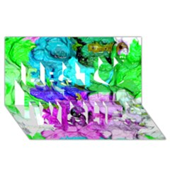 Strange Abstract 4 Best Wish 3D Greeting Card (8x4)