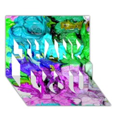 Strange Abstract 4 THANK YOU 3D Greeting Card (7x5)