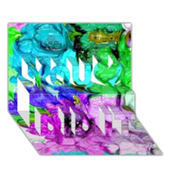 Strange Abstract 4 You Did It 3D Greeting Card (7x5)