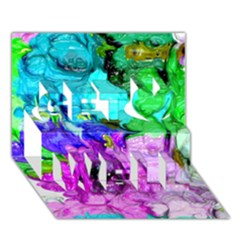 Strange Abstract 4 Get Well 3D Greeting Card (7x5)