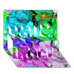 Strange Abstract 4 You Rock 3d Greeting Card (7x5)