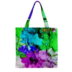 Strange Abstract 4 Zipper Grocery Tote Bags