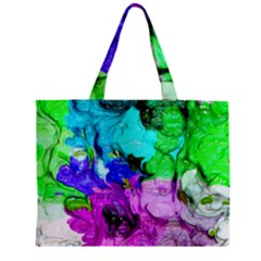 Strange Abstract 4 Zipper Tiny Tote Bags