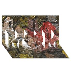 Strange Abstract 5 MOM 3D Greeting Card (8x4)