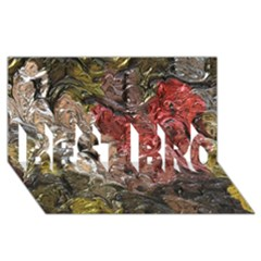 Strange Abstract 5 BEST BRO 3D Greeting Card (8x4)