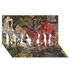 Strange Abstract 5 Best Sis 3d Greeting Card (8x4)