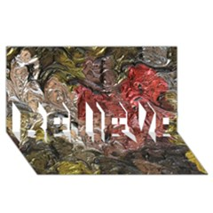 Strange Abstract 5 BELIEVE 3D Greeting Card (8x4)