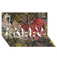 Strange Abstract 5 Sorry 3d Greeting Card (8x4)