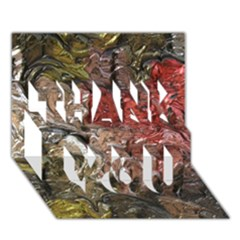 Strange Abstract 5 Thank You 3d Greeting Card (7x5)