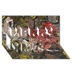 Strange Abstract 5 Merry Xmas 3D Greeting Card (8x4)