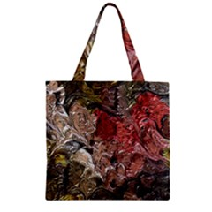 Strange Abstract 5 Zipper Grocery Tote Bags