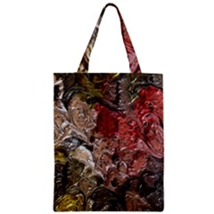 Strange Abstract 5 Zipper Classic Tote Bags