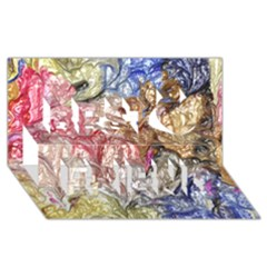 Strange Abstract 6 Best Friends 3D Greeting Card (8x4)