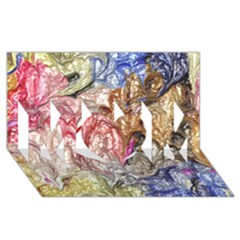 Strange Abstract 6 MOM 3D Greeting Card (8x4)