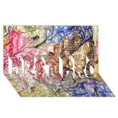 Strange Abstract 6 BEST BRO 3D Greeting Card (8x4)
